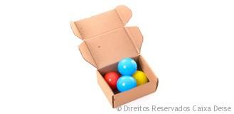 Caixa de Papelao para correio com bolinhas