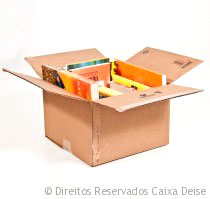 Caixa de Papelão para Mudança com Livros