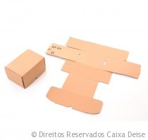 Caixa de Papelao para Sedex montada e desmontada