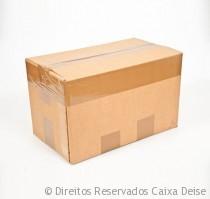 Caixa Papelão - Fechamento com cinta lateral na borda