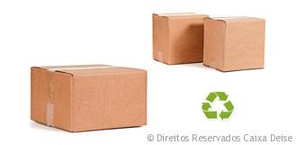 Caixas de Papelão Recicladas